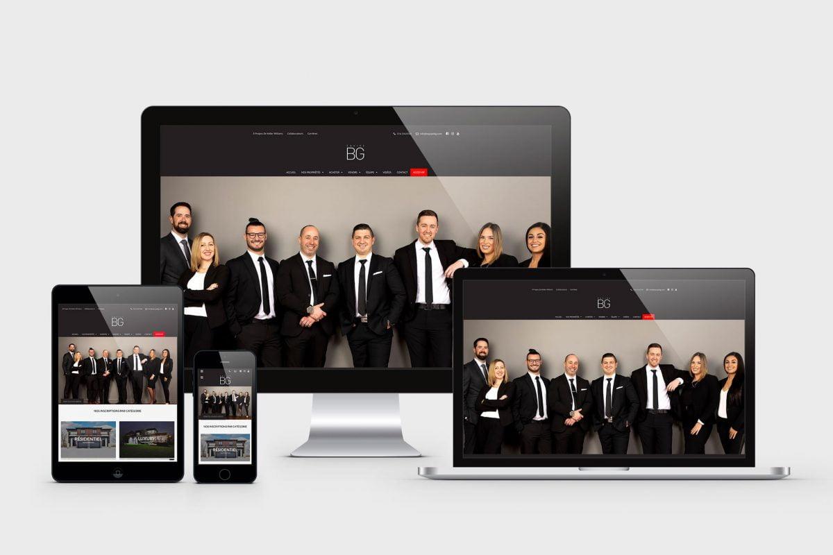 Site web pour courtier immobilier - Forfait Luxury